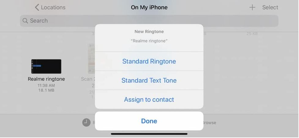 set ringtone on iPhone without iTunes 12